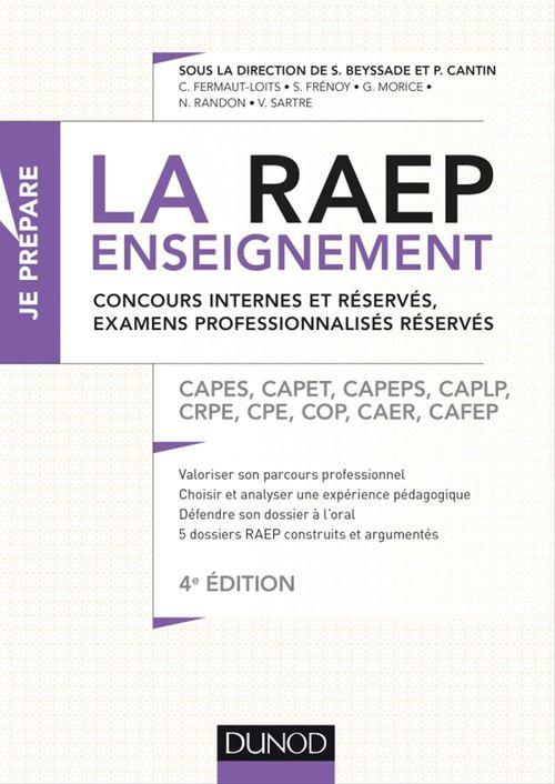 La Raep enseignement - Concours internes et réservés, examens professionnalisés réservés