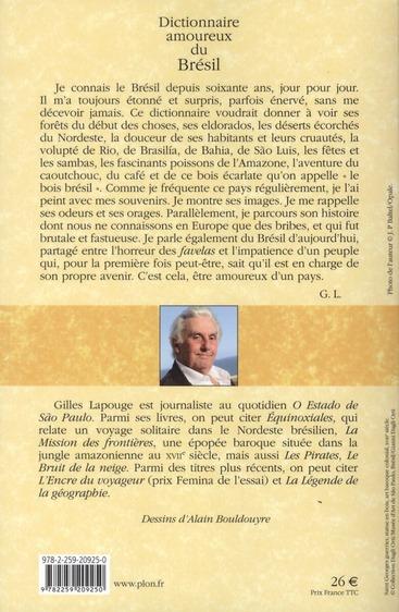 dictionnaire amoureux ; du Brésil