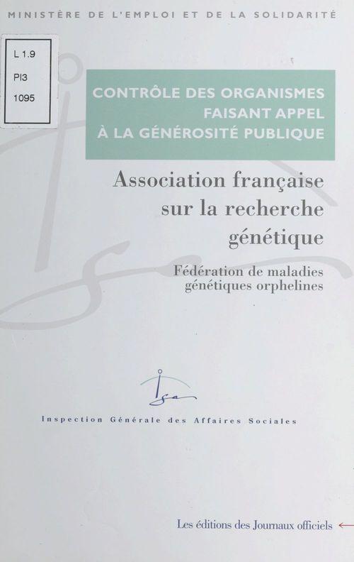 Association francaise sur la recherche genetique - federation de maladies genetiques orphelines - ra