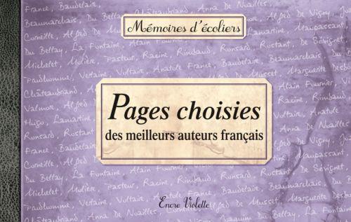 Pages choisies des meilleurs auteurs français