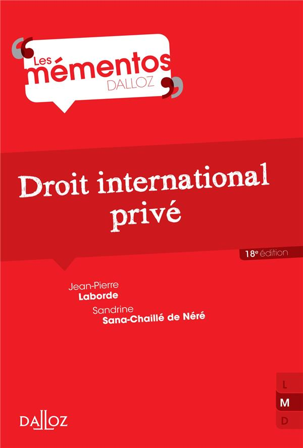 Droit International Prive (18e Edition)