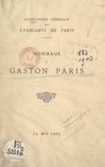 Hommage à Gaston Paris, 14 mai 1903