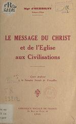 Le message du Christ et de l'Église aux civilisations