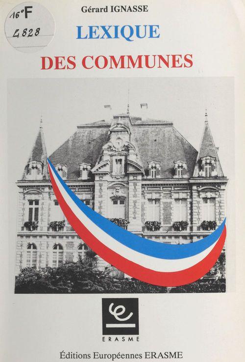 Lexique des communes
