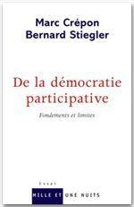 De la démocratie participative ; fondements et limites