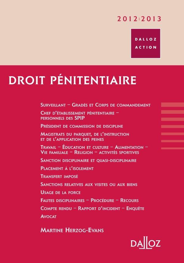 Droit pénitentiaire (édition 2012/2013)