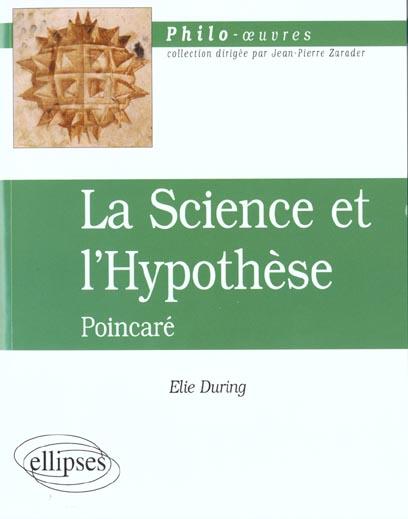 Poincare, la science et l'hypothese