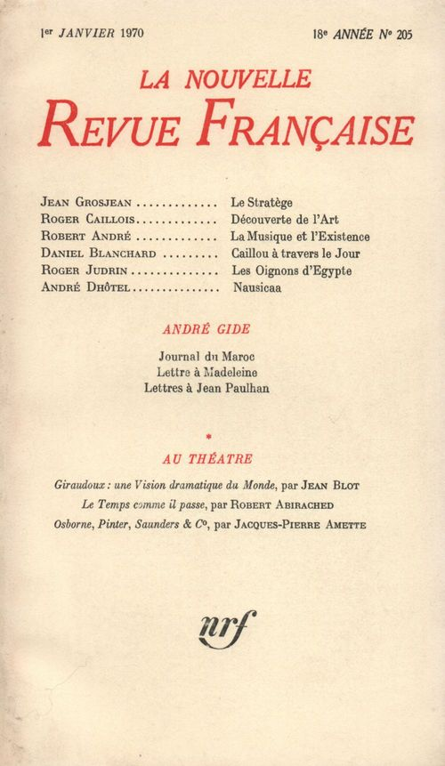 La n.r.f. 205 (janvier 1970)