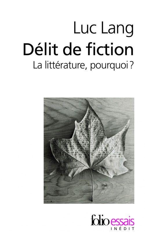 Délit de fiction. La littérature, pourquoi ?