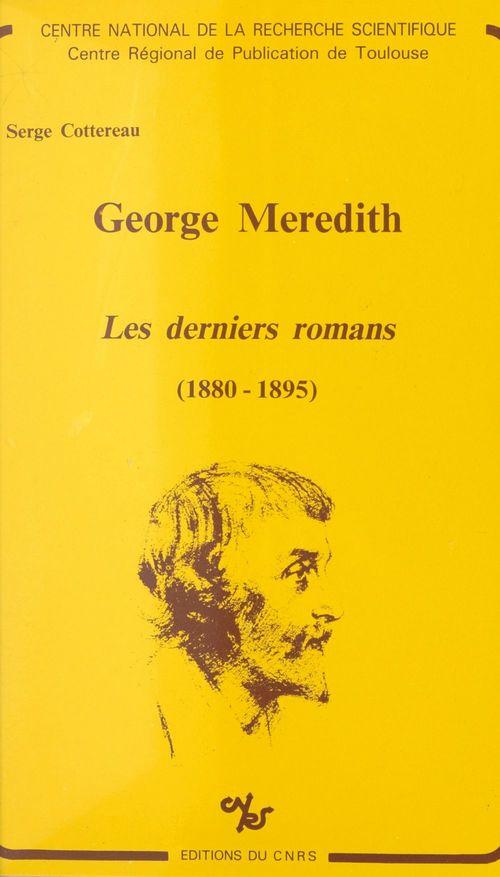 George meredith : derniers romans (1880-1895)