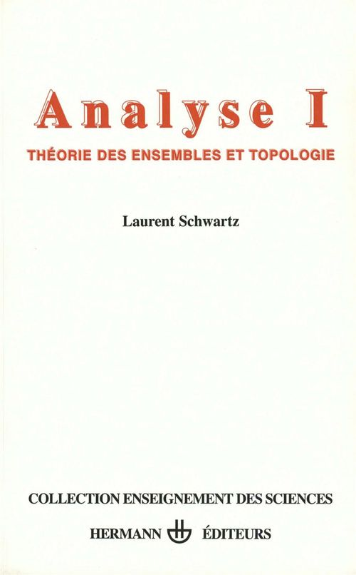 Analyse t.1 théorie des ensembles et topologie