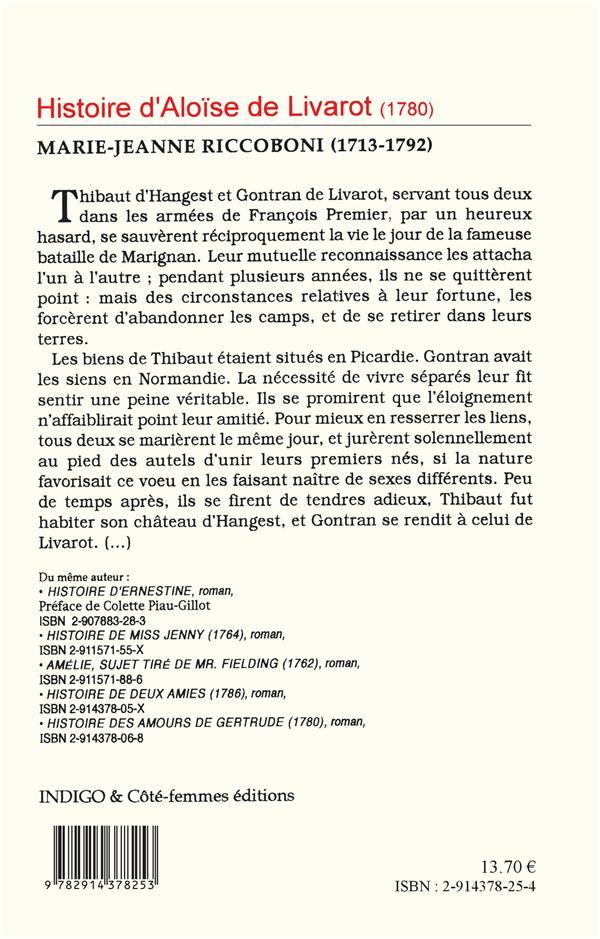 Histoire d'Aloïse de Livarot (1780)