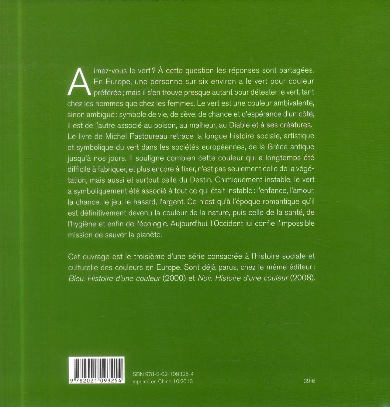 vert ; histoire d'une couleur