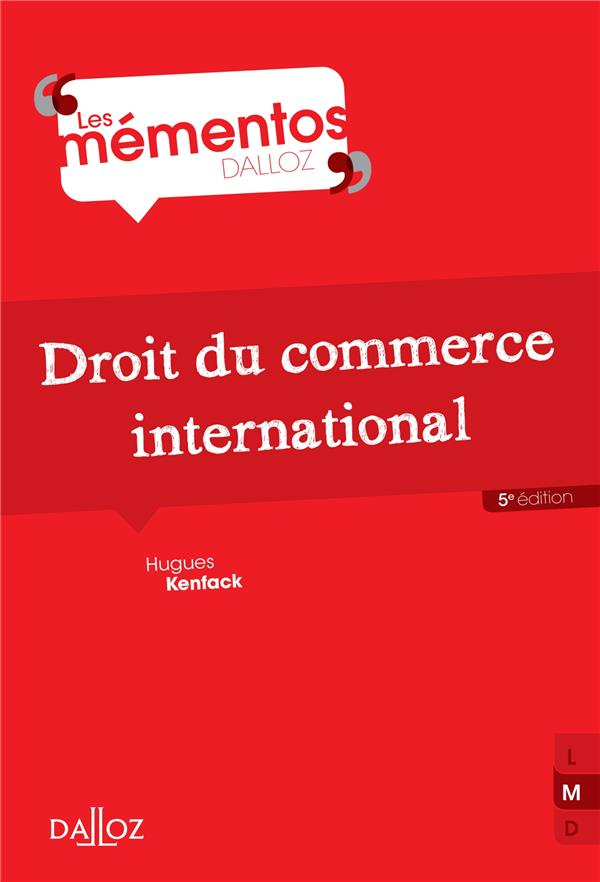 Droit Du Commerce International (5e Edition)