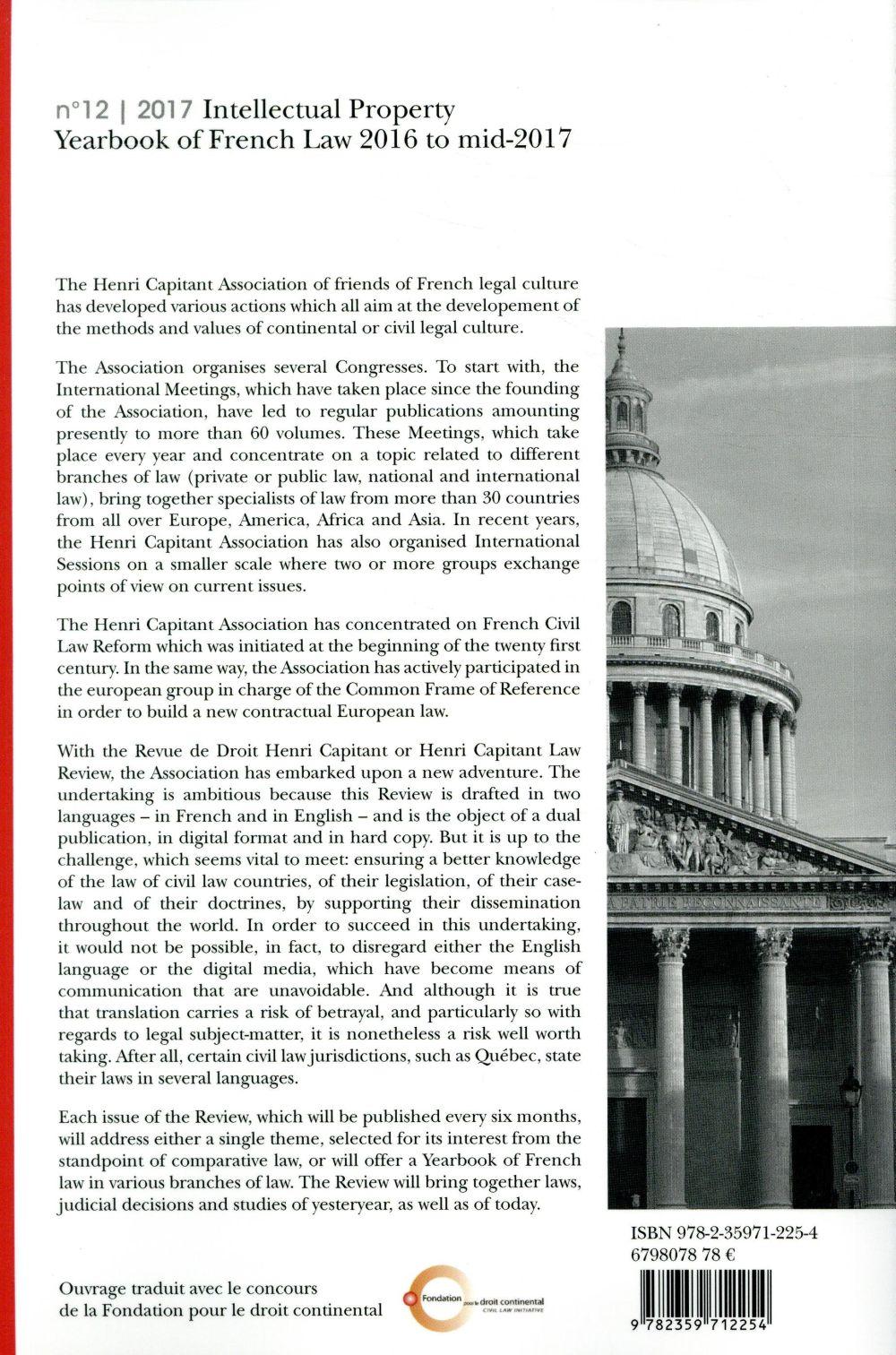 revue de droit Henri Capitant n.2017/12 ; la propriété intellectuelle