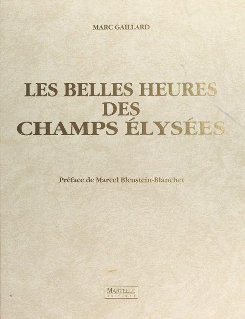 Champs elysees (les belles heures)