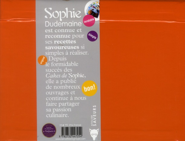 Sophie ; ma boîte à recettes ; 300 fiches recettes salées et sucrées