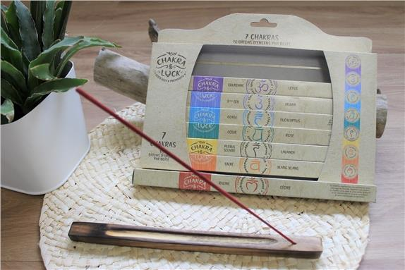 Coffret encens baton chakra luck 7 fragrances