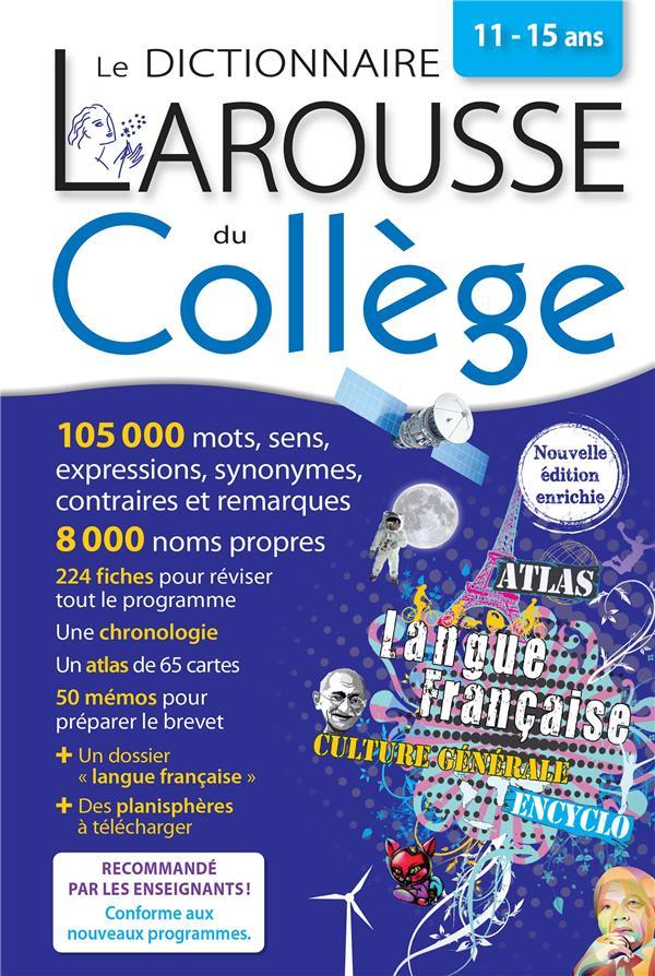 DICTIONNAIRE LAROUSSE DU COLLEGE  -  11-15 ANS