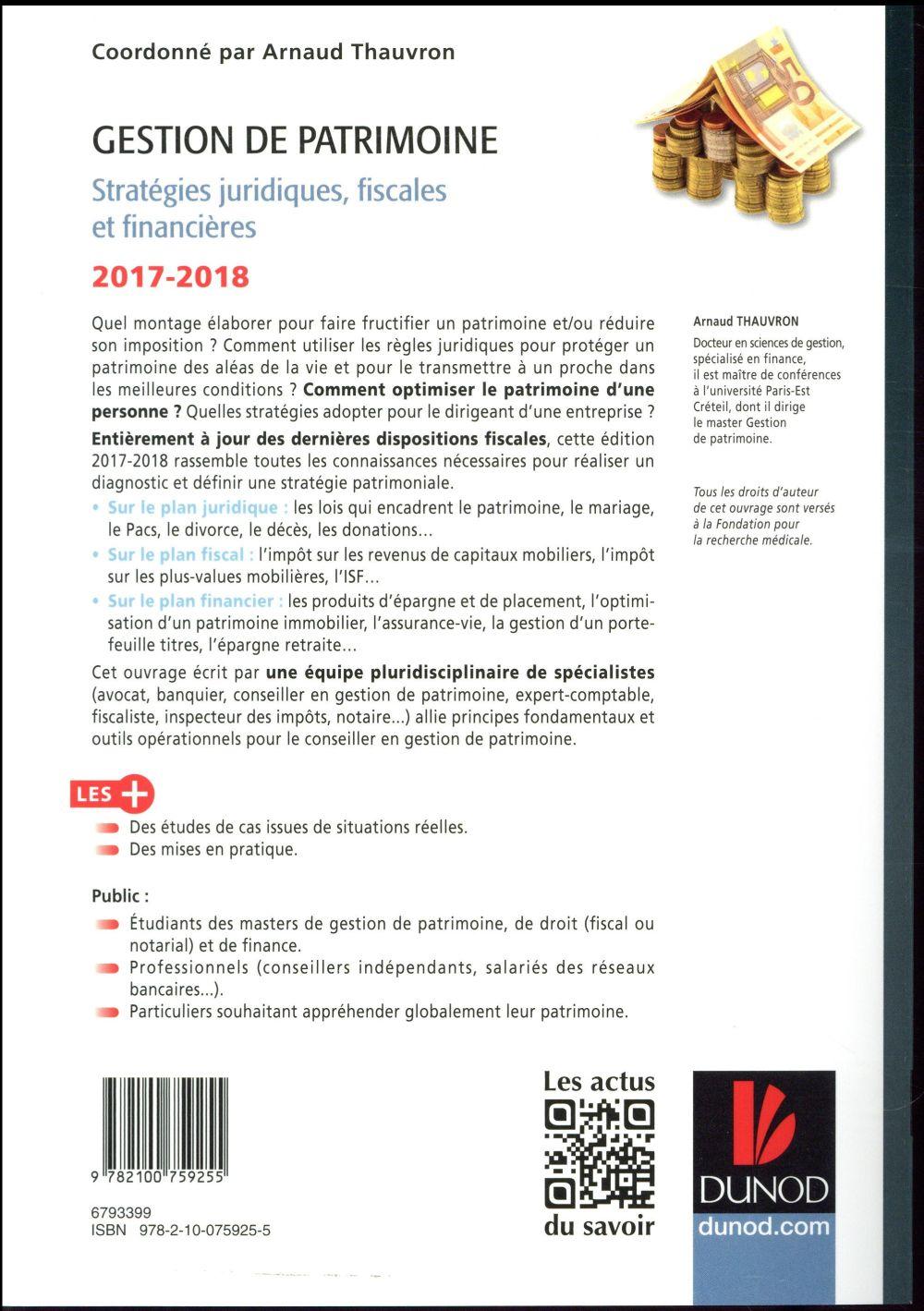 Gestion de patrimoine (édition 2017/2018)