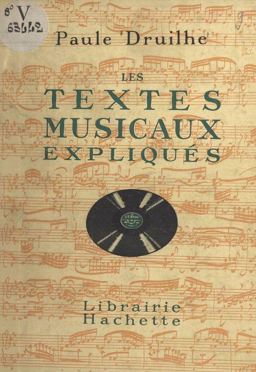 Les textes musicaux expliqués