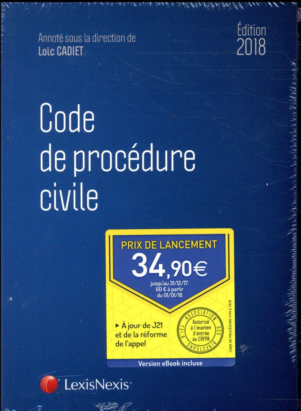 Code de procédure civile (édition 2018)
