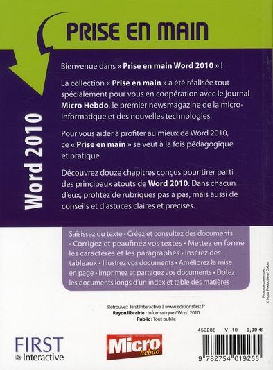 Prise en main Word 2010
