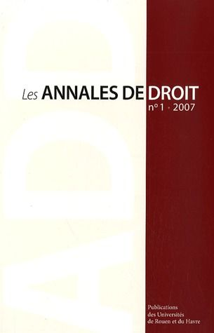 LES ANNALES DE DROIT T.2017/1
