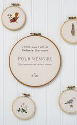 Vente Livre Numérique : Pour mémoire  - Rafaële Germain - Dominique Fortier