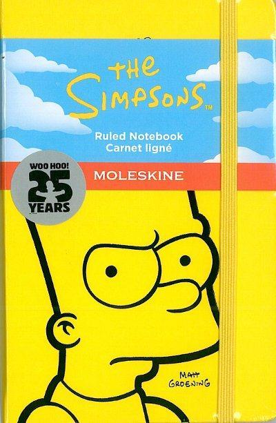 Les Simpson ; carnet poche jaune ligné