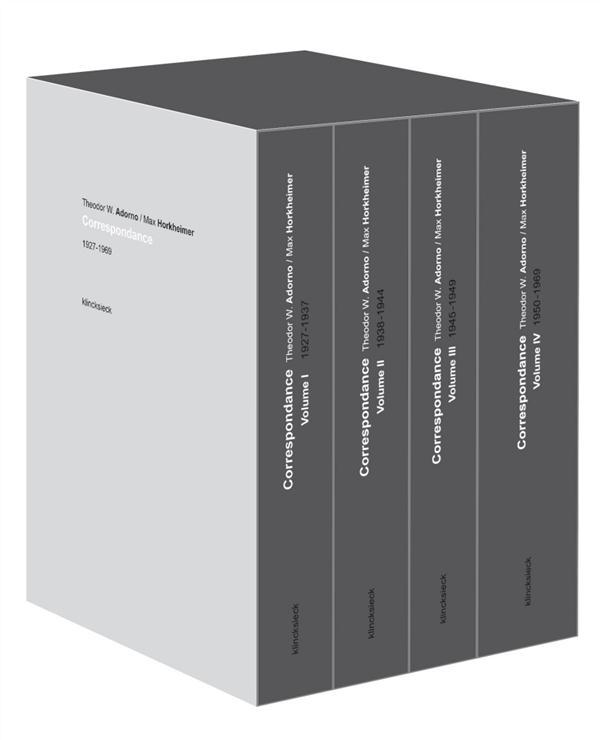 Correspondance 1927-1969 ; coffret 4 volumes