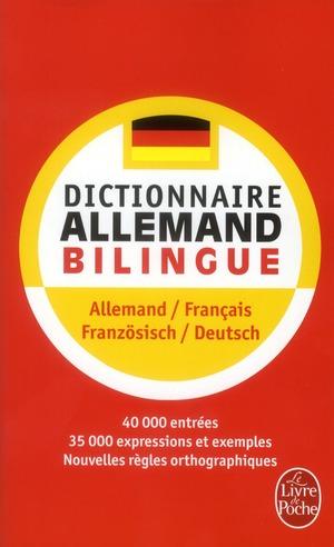 Dictionnaire Le Livre De Poche ; Allemand-Francais / Franzosisch-Deutsch