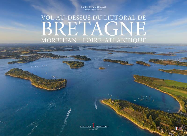 Vol au-dessus du littoral de Bretagne-Morbihan-Loire Atlantique