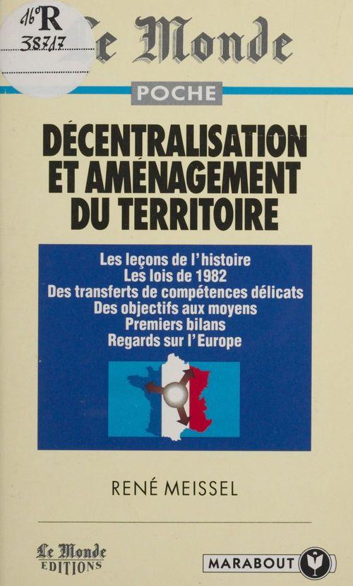 Decentralisation et amenagement du territoire
