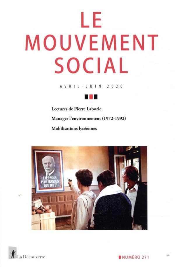 Revue le mouvement social n.271