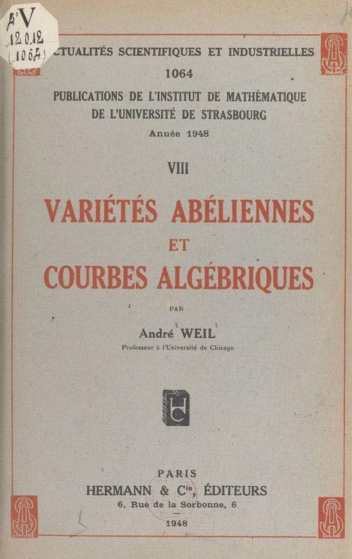 Variétés abéliennes et courbes algébriques