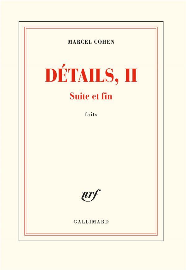 Détails, II ; suite et fin