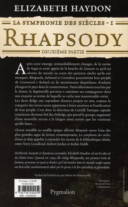 la symphonie des siècles t.1 ; rhapsody, deuxième partie