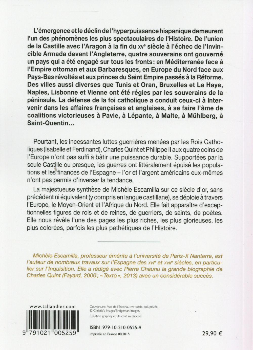 le siècle d'or de l'Espagne ; apogée et déclin, 1492-1598