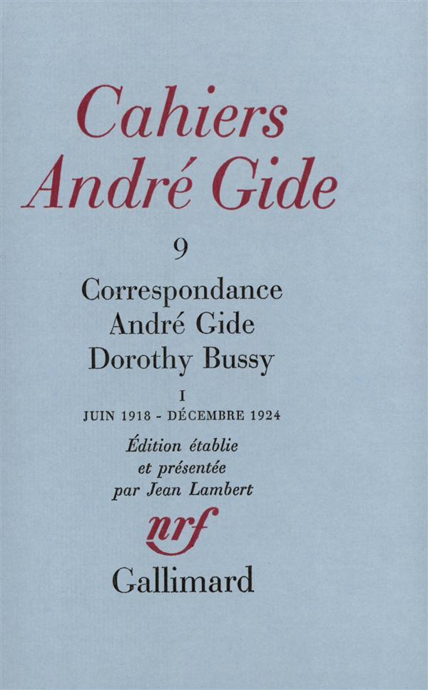 Correspondance ; juin 1918 - décembre 1924