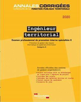 Ingénieur territorial ; examen , spécialité II, examen, catégorie A. (édition 2020)