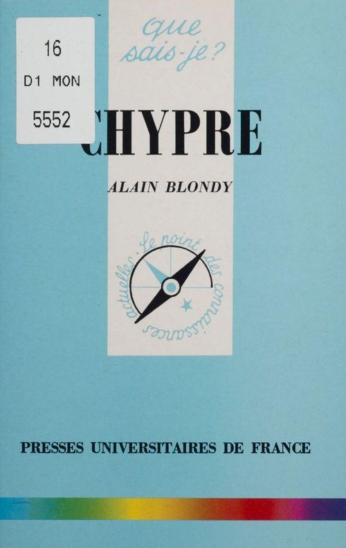 Chypre  - Alain Blondy
