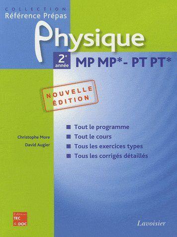 physique ; 2e année mp mp* pt pt*, (2e édition)
