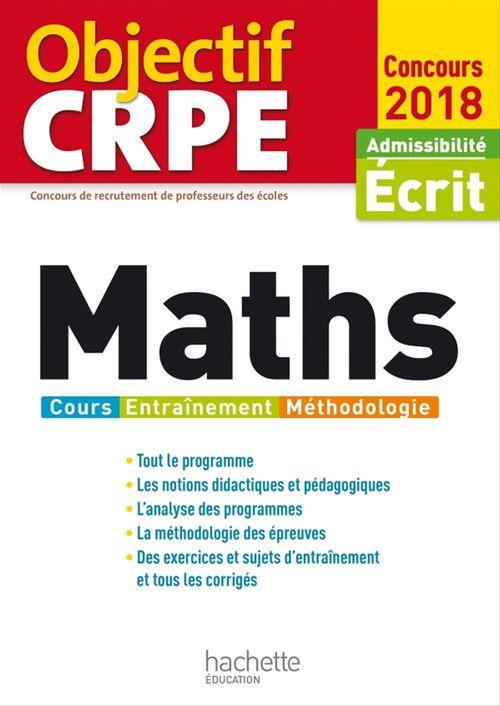 Objectif CRPE ; maths (édition 2018)