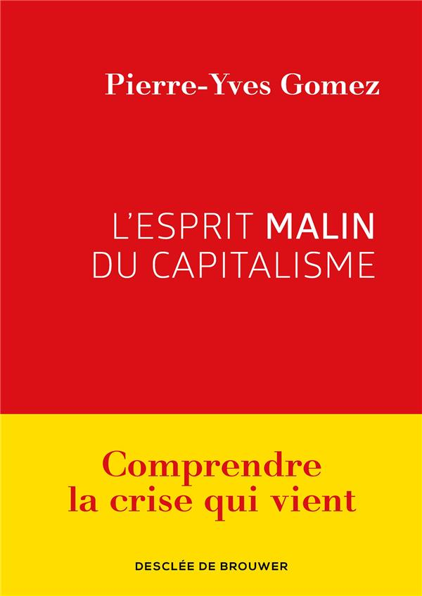 L'ESPRIT MALIN DU CAPITALISME  -  COMPRENDRE LA CRISE QUI VIENT