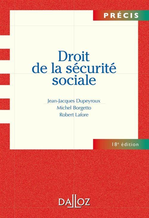 Droit de la sécurité sociale (18e édition)