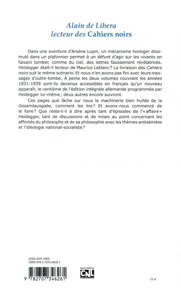 Revue critique n.874 ; mars 2020 ; alain de libera, lecteur des cahiers noirs