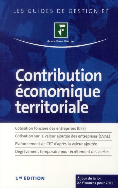 Contribution Economique Territoriale ; Cfe, Cvae, Plafonnement De Cet, Degrevement Temporaire
