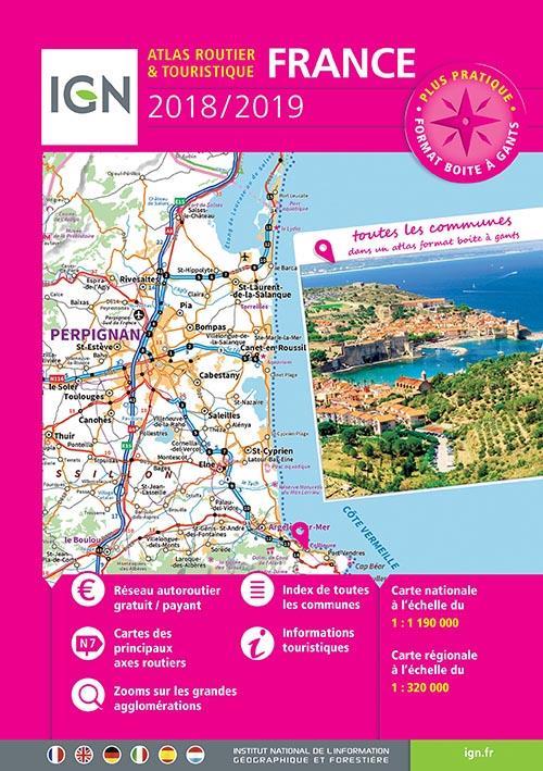 France, atlas routier et touristique (édition 2018/2019)