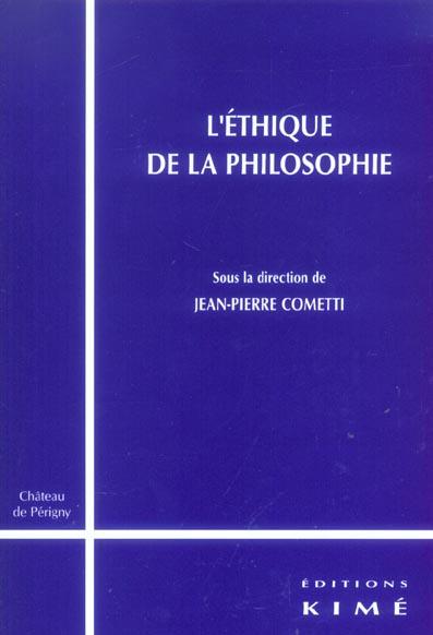 L' ethique de la philosophie